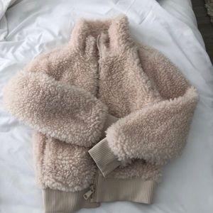 Jackets & Blazers - Zara Teddy Jacket in Cream